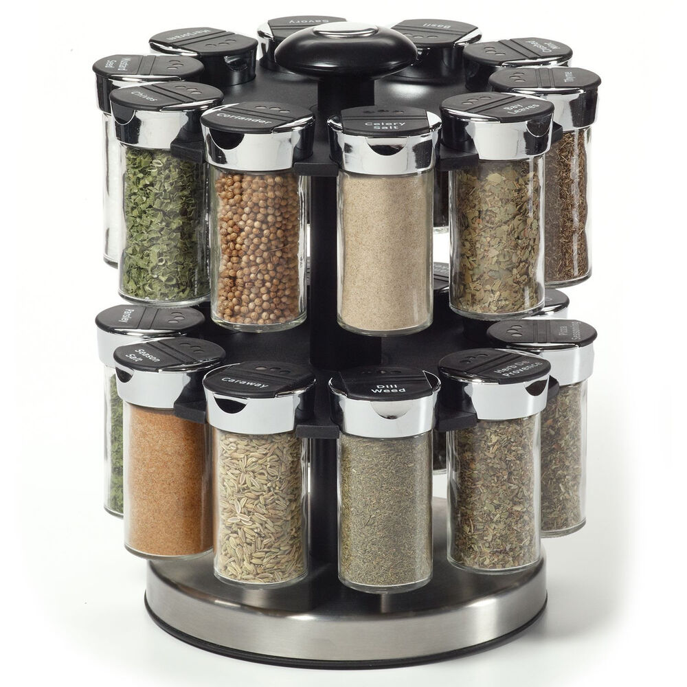 Spices Kamenstein Two Tier Rotating Spice Rack Ebay