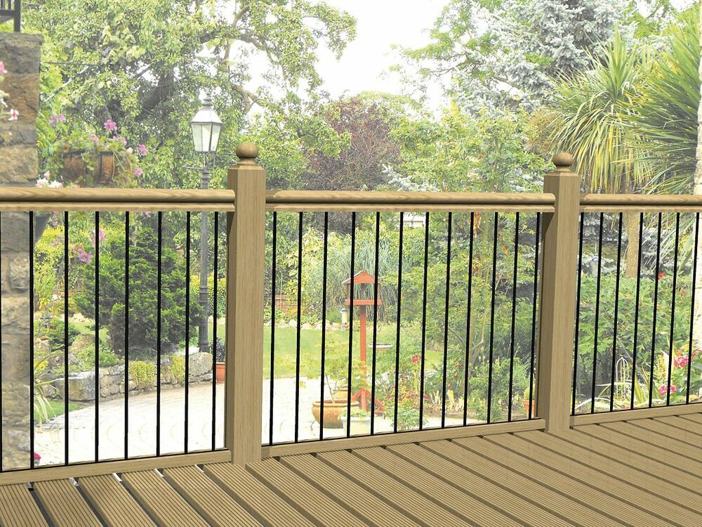 Heavy duty metal decking railing panels fence infill