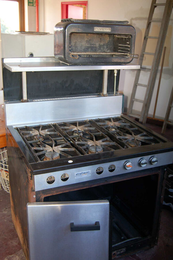 Ebay Countertop Stove : ... Duty Industrial 6 Ring Gas Oven, Grill, Hot Countertop Cabinet eBay