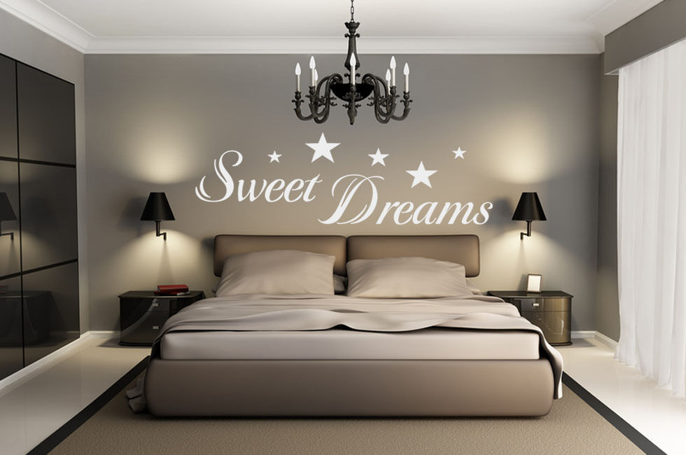 wandtattoo spruch wandtattoo zitat sweet dreams wandtattoo schlafzimmer ebay. Black Bedroom Furniture Sets. Home Design Ideas