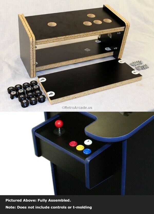 cocktail arcade game cabinet replacement controll panel kit pre drilled complete ebay. Black Bedroom Furniture Sets. Home Design Ideas