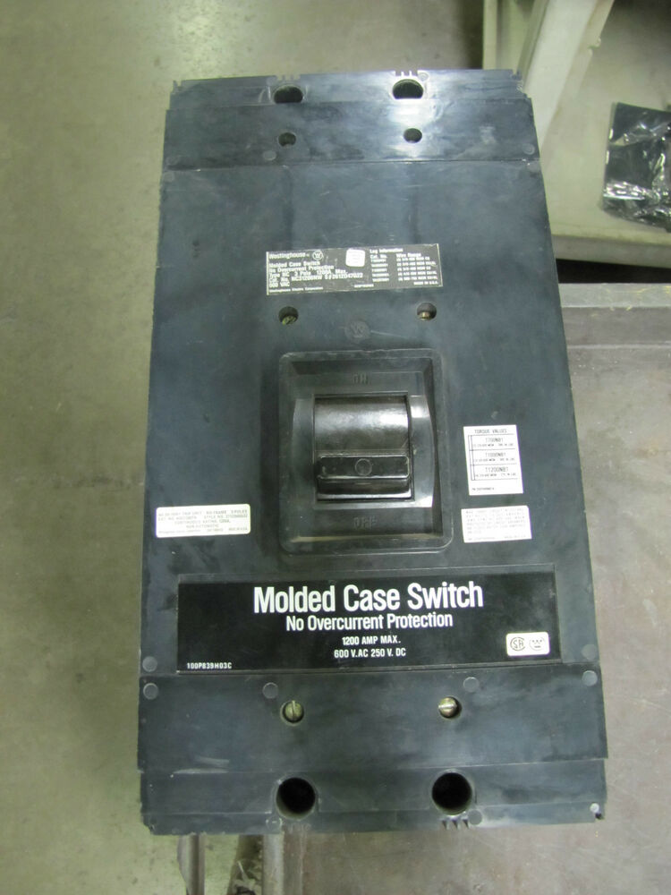 westinghouse molded case switch circuit breaker 1200a 1200. Black Bedroom Furniture Sets. Home Design Ideas