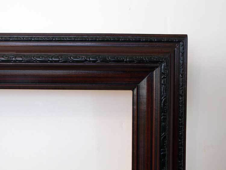 Picture Frame Oil Painting Dark Cherry Wood 24 X 36 | eBay