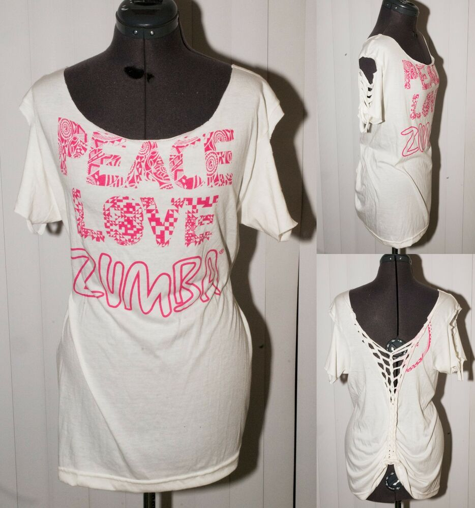 unique customized peace love zumba dance fitness shirt white ebay. Black Bedroom Furniture Sets. Home Design Ideas