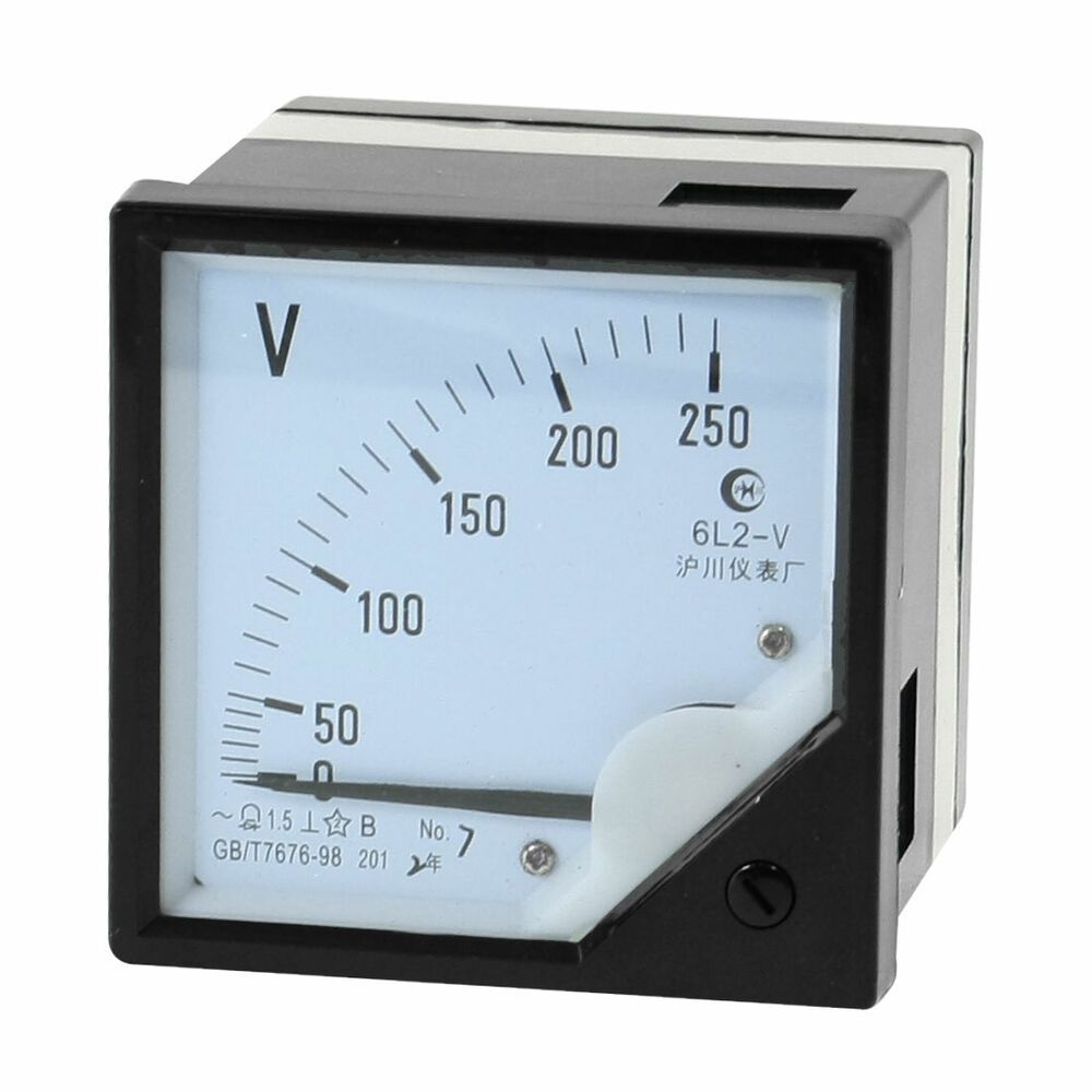 Ac Panel Meters : Analog class accuracy ac v voltage panel meter ebay