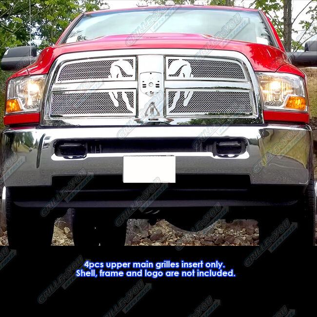 Fits 2010-2012 Dodge Ram 2500/3500 Symbolic Stainless Steel Mesh Grille Grill | eBay