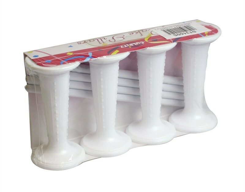 wedding cake boards and dowels wedding cake pillar amp dowel set white 3 quot 4pk 8pk 12pk 22035