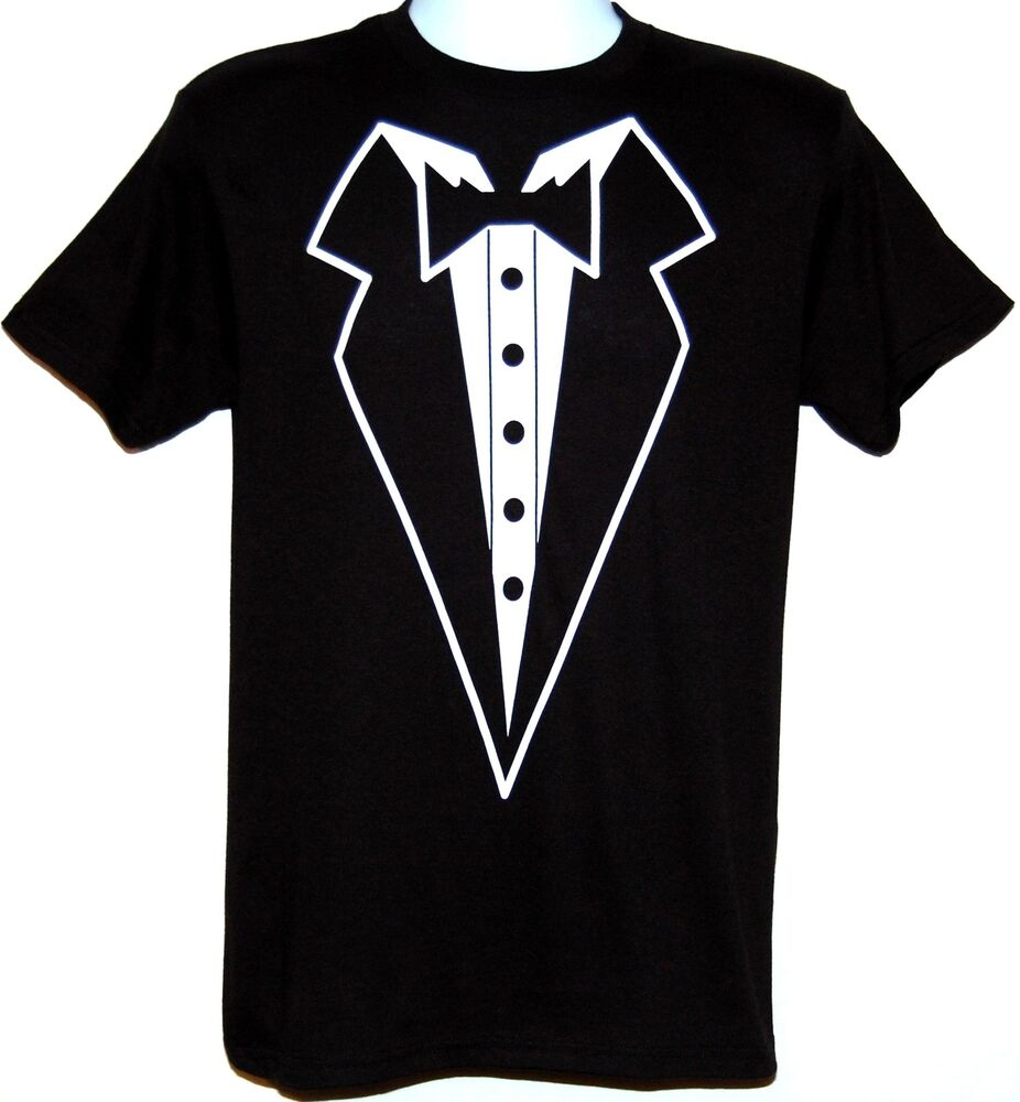Tuxedo New T Shirt Black Wedding Casual Party College