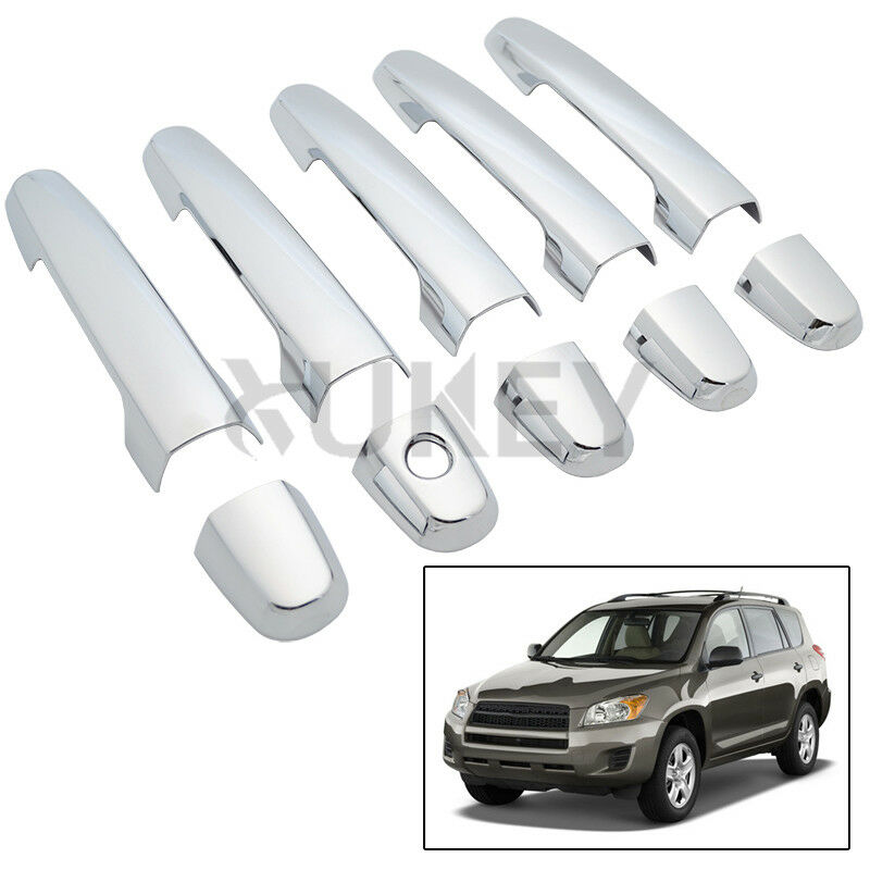 10pcs For 2006 2012 Toyota Rav4 Chrome Door Handle Cover Trim Molding Rav 4 2011 Ebay