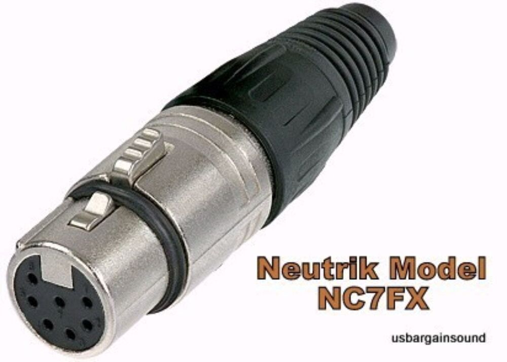 neutrik nc7fx xlr 7 pin female cable connector nickel housing w silver contacts ebay. Black Bedroom Furniture Sets. Home Design Ideas