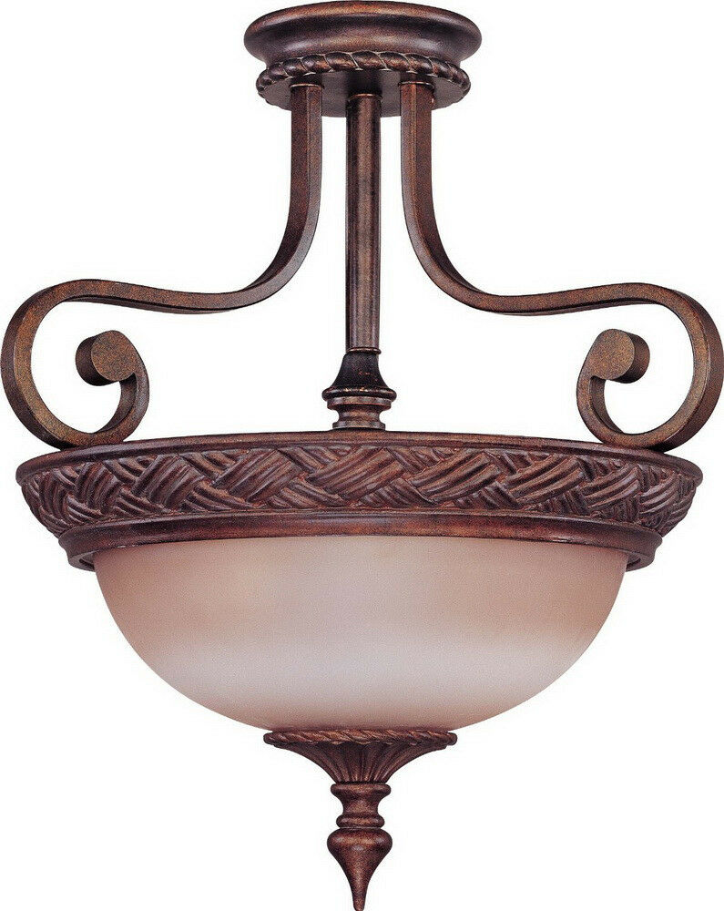 bronze light fixtures plum bronze and bisque glass semi flush ceiling 28913