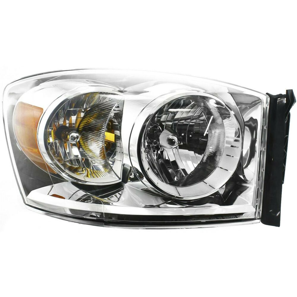 headlight for 2007 2009 dodge ram 1500 ram 2500 passenger. Black Bedroom Furniture Sets. Home Design Ideas