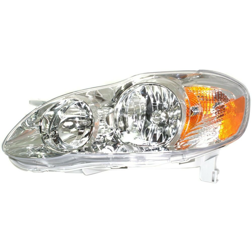 headlight for 2005 2008 toyota corolla driver side w bulb ebay. Black Bedroom Furniture Sets. Home Design Ideas