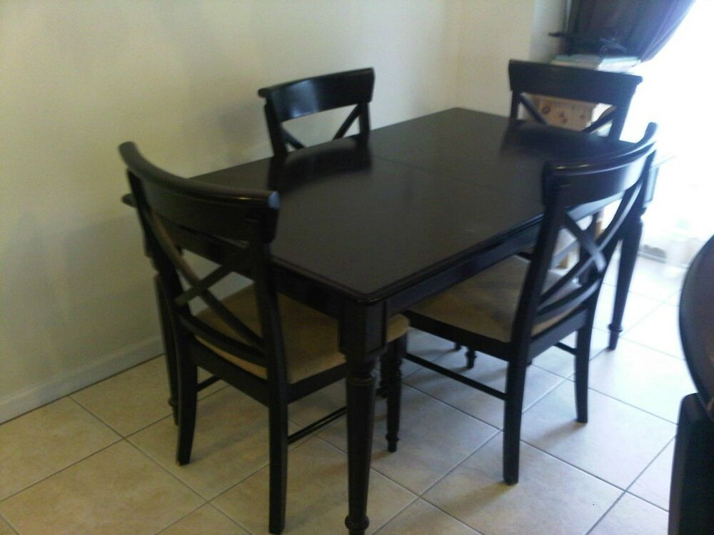 Kitchen table and 4 chairs ebay for Kitchen table with stools