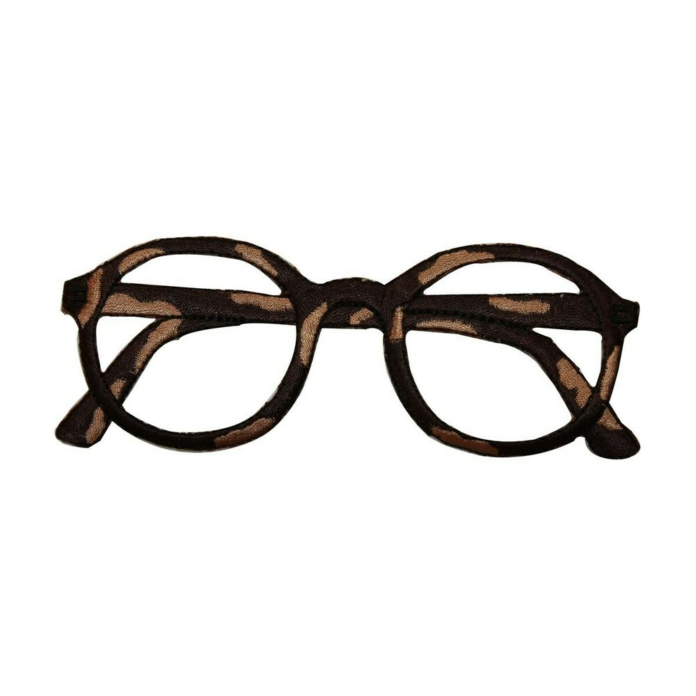 ID 7519 Brown Eyeglass Frame Glasses Fashion Iron On ...