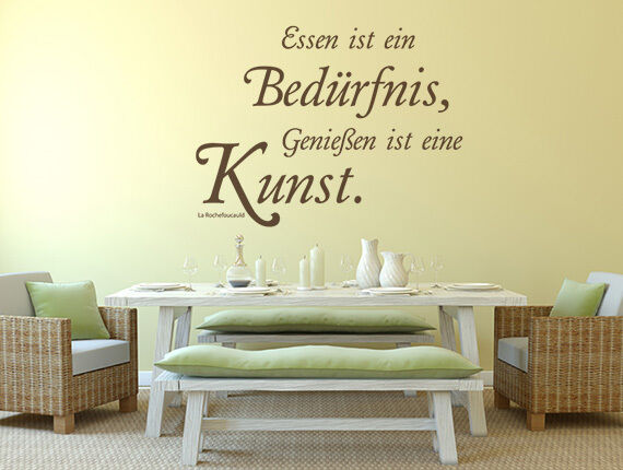 wandtattoo k che spr che zitate essen ist ein. Black Bedroom Furniture Sets. Home Design Ideas