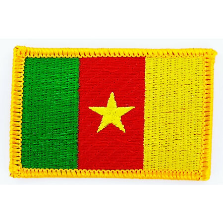 img-PATCH ECUSSON BRODE DRAPEAU CAMEROUN INSIGNE THERMOCOLLANT NEUF FLAG PATCHE
