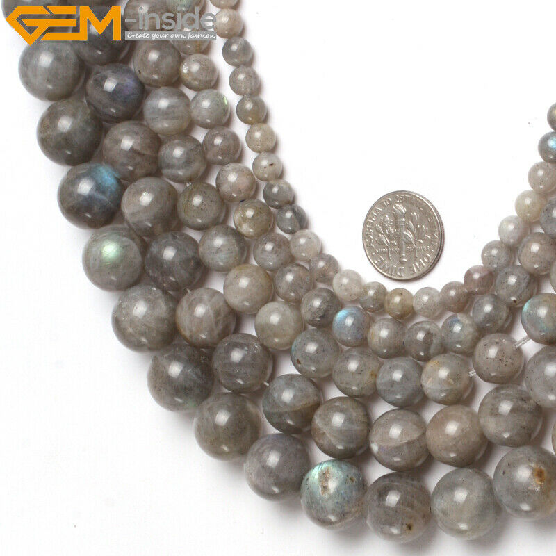 Natural stone genuine labradorite gemstone beads for for Birthstone beads for jewelry making