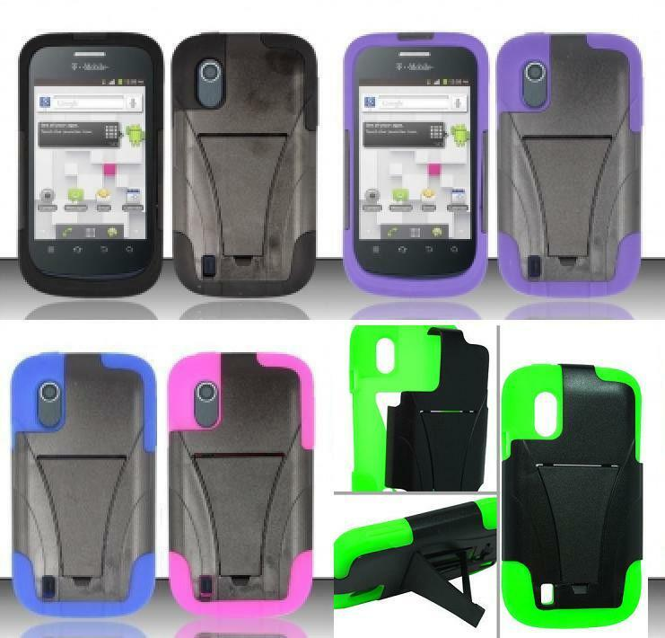 ZTE Concord V768 / Midnight Z768G Phone Cover T-STAND Case + SCREEN ...