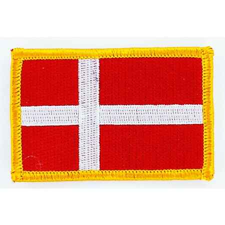 img-PATCH ECUSSON BRODE DRAPEAU DANEMARK INSIGNE THERMOCOLLANT NEUF FLAG PATCHE