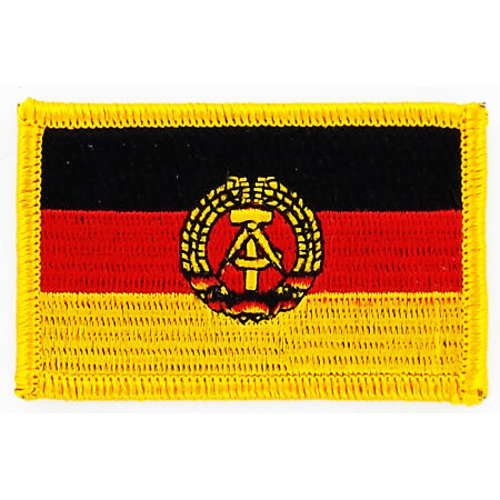 img-PATCH ECUSSON BRODE DRAPEAU ALLEMAGNE RDA DDR INSIGNE THERMOCOLLANT NEUF FLAG