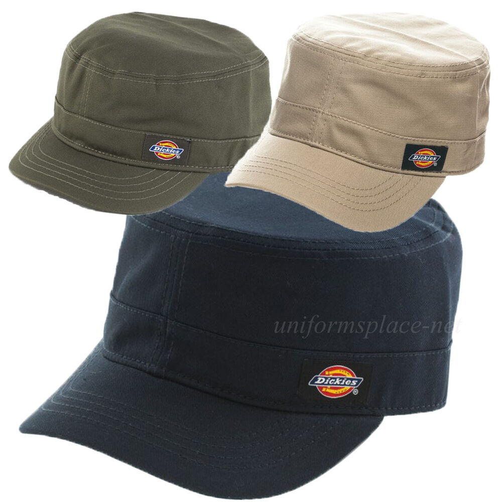Dickies Hats Mens Fitted Hat Cadet Cap Curve Visor S M Or