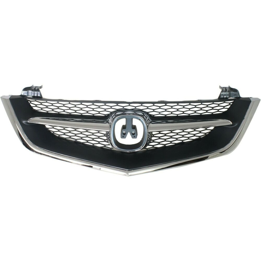 Grille For 2002-2003 Acura TL Chrome Shell W/ Black Insert