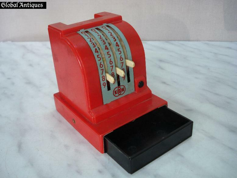 1960s ANTIQUE CHILD TOY CASH REGISTER MONEY BOX | eBay