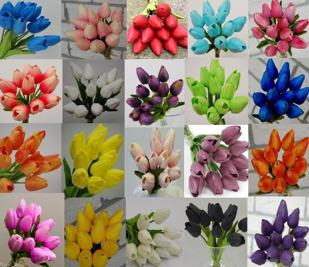Artificial Tulip Wedding Bouquets : Latex real touch tulips bouquets wedding bouquet
