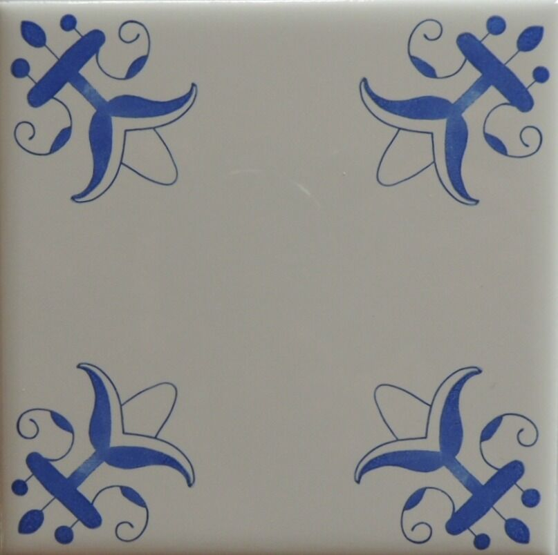 Delft Blue And White Lilly Tiles Ebay