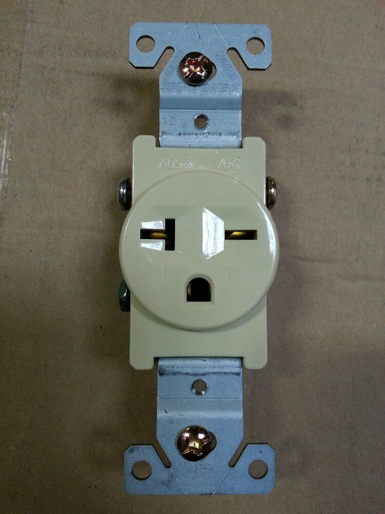 10 Pc  Single Receptacle 20 Amp 20a 250v Ac Outlet 2 Pole