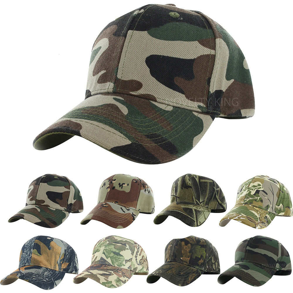 Camo cap adjustable velcro military hunting fishing hat for Camo fishing hat