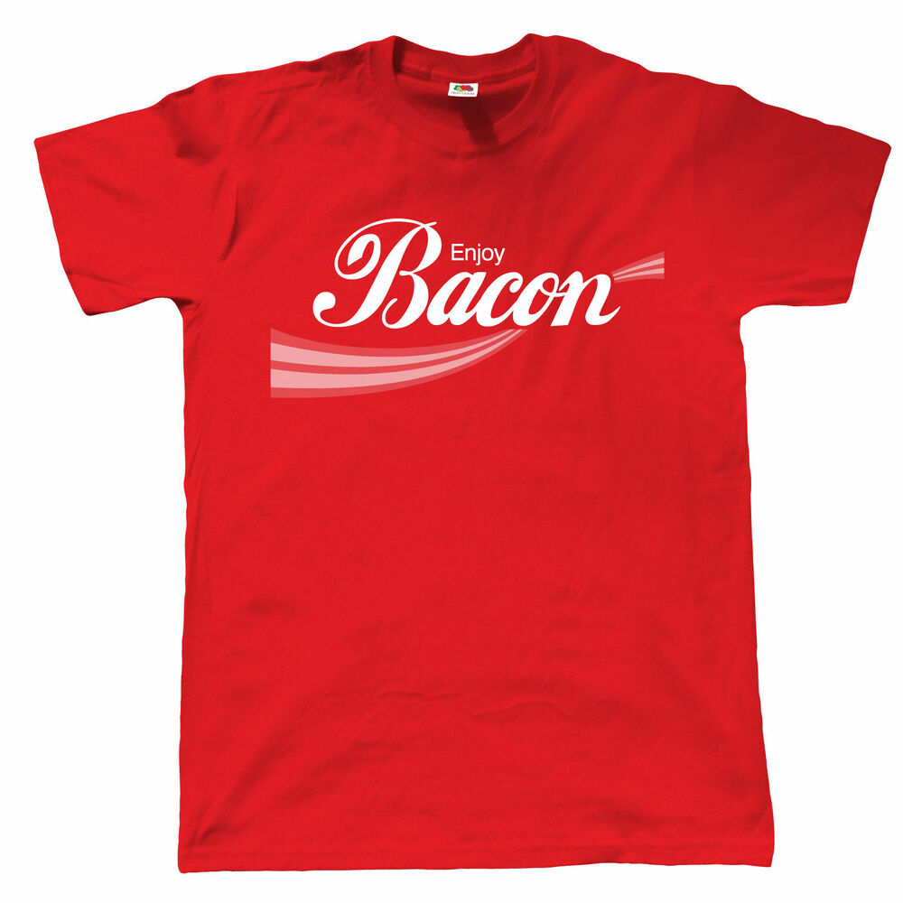 Enjoy bacon mens t shirt mealtime bacon epic strips for Mens t shirts 4xl