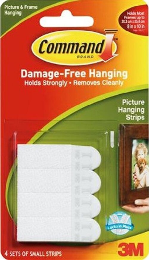 3m Command Small Poster Hanging Strips 17202 Picture Print