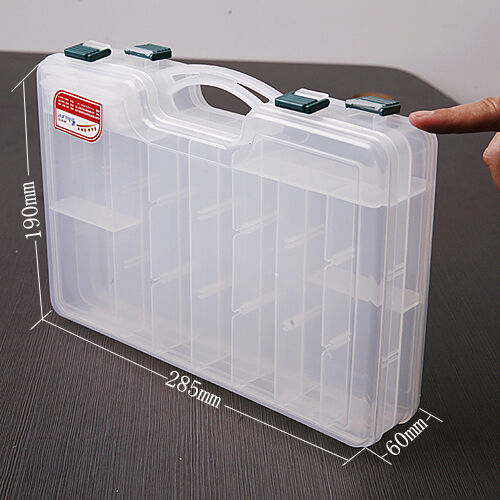 2 Layer Tackle Tool Box Fishing Box Storage Box For Fish
