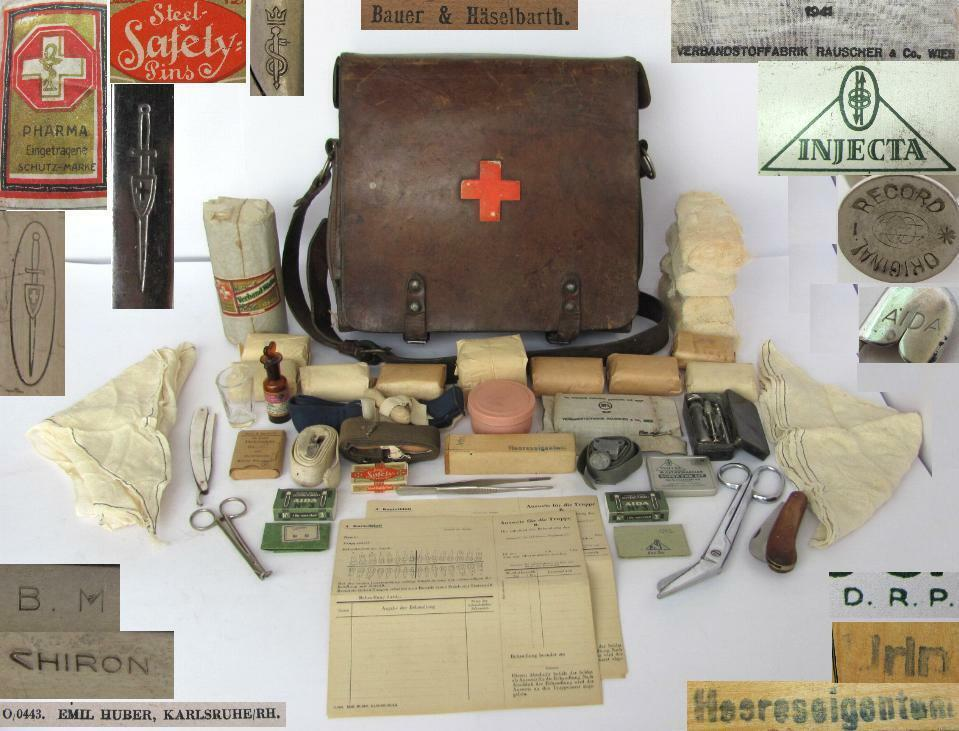 Wwii Original German Medic First Aid Bag W Equipment Ebay