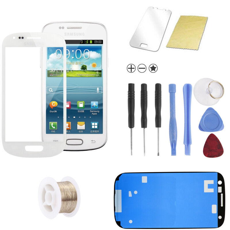 samsung galaxy s3 mini i8190 i8200 wei white glas scheibe. Black Bedroom Furniture Sets. Home Design Ideas