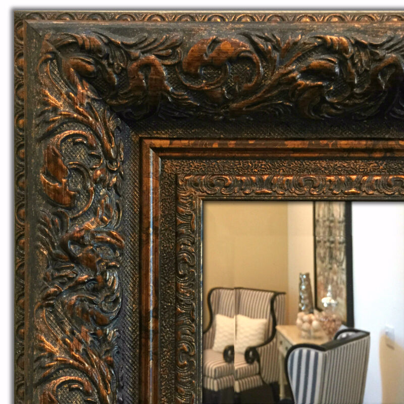 ornate framed wall mirror mantle bathroom mirror dark gold ebay