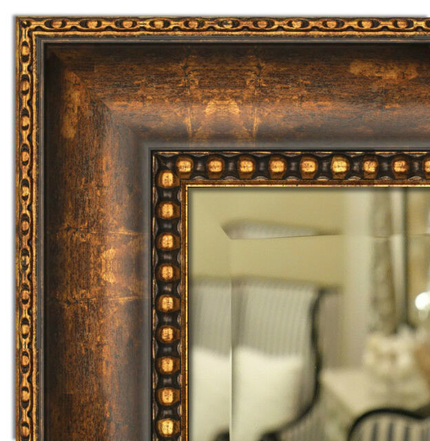 Wall framed mirror bathroom vanity mirror bronze gold finished ebay Frames for bathroom wall mirrors