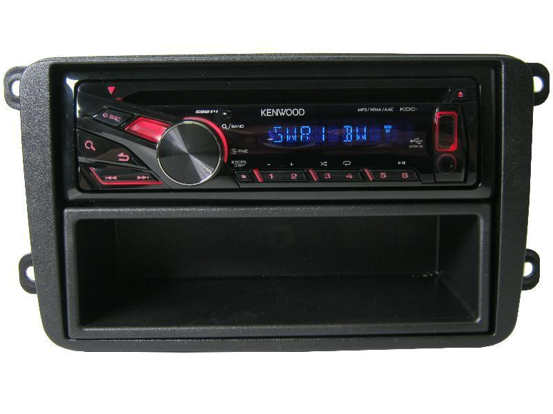 vw golf 5 6 kenwood cd mp3 radio usb aux blende einbau. Black Bedroom Furniture Sets. Home Design Ideas