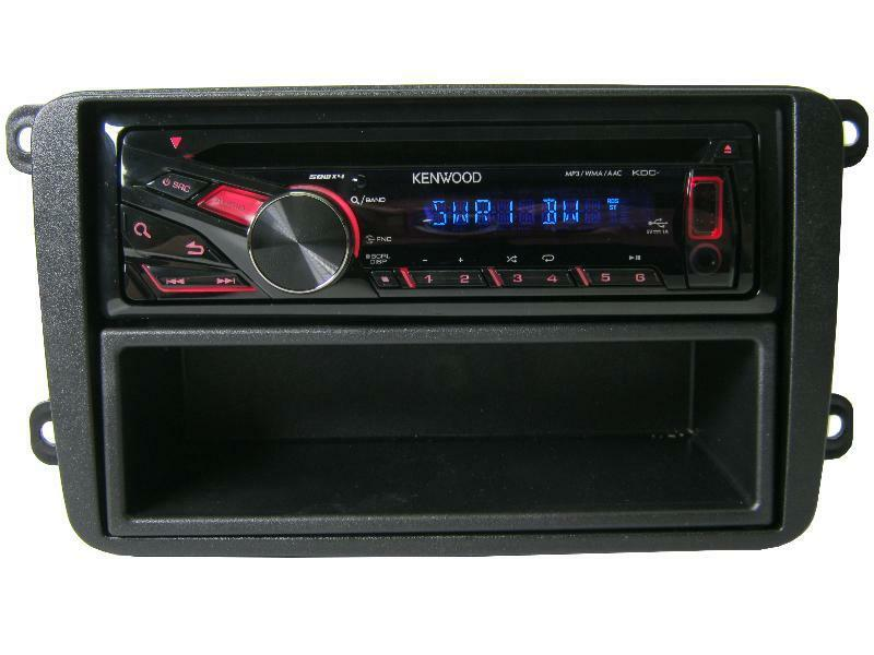 vw golf 5 6 kenwood cd mp3 radio usb aux blende einbau set kit autoradio ebay. Black Bedroom Furniture Sets. Home Design Ideas
