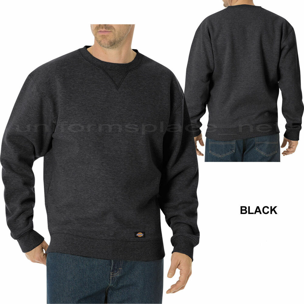 Details about Men Jackets DICKIES Midweight Fleece Crew Neck Sweatshirts  Sweater TW386 Black. 5ad05d2ae597
