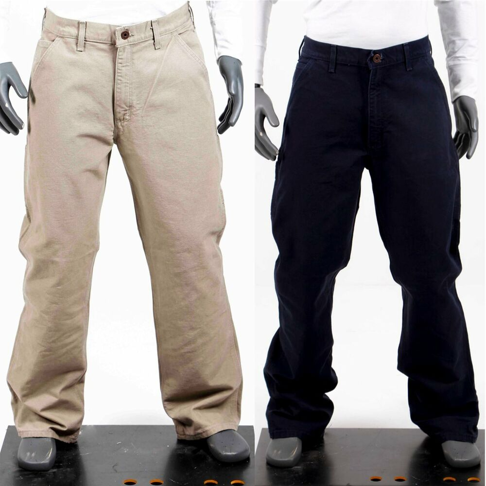 carhartt herren bundhose arbeitshose servicehose beige oder blau neu eb011 ebay. Black Bedroom Furniture Sets. Home Design Ideas