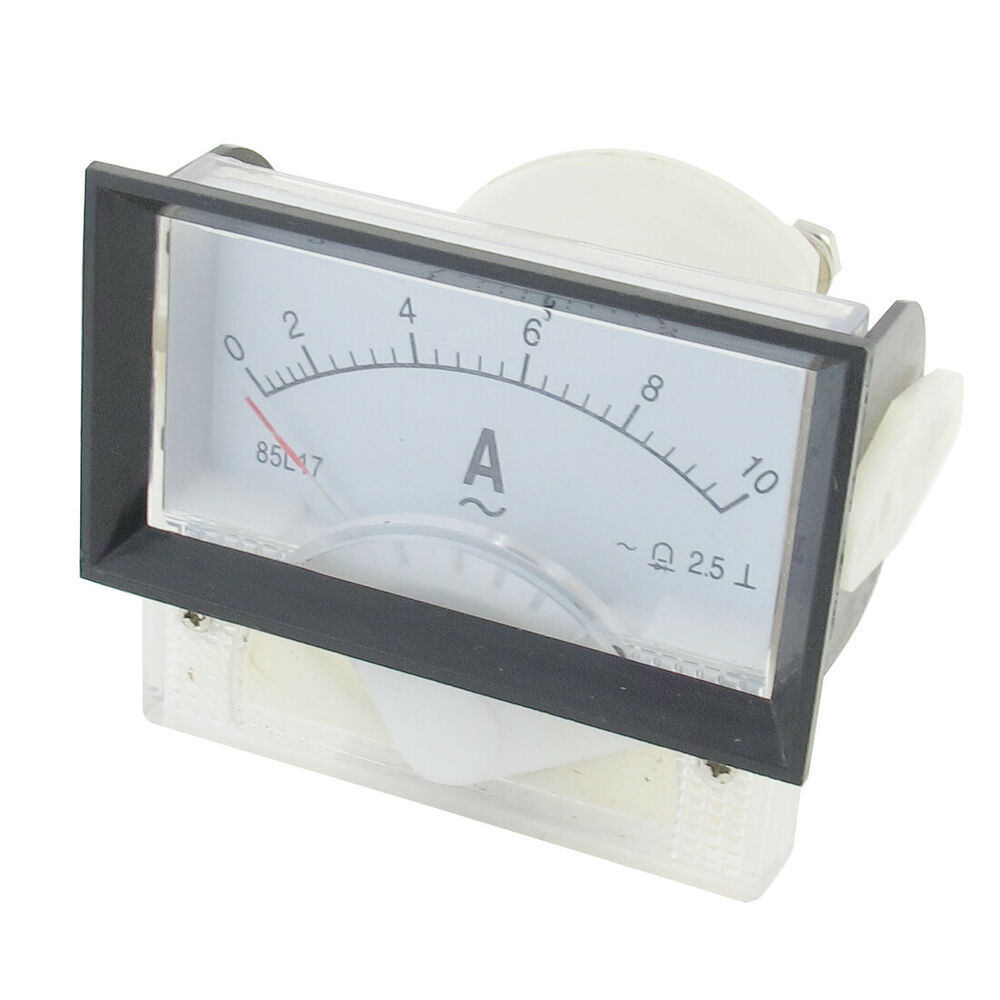 Analog Ammeter Animation : L ac a mmx mm rectangular analog ampere panel