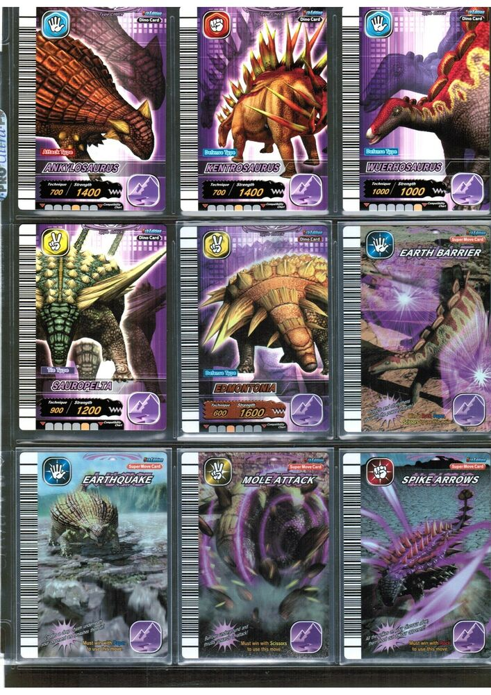 Dinosaur king sega 5th ed page of 9 earth as shown 5 foil super dino movecard ebay - Dinausaure king ...