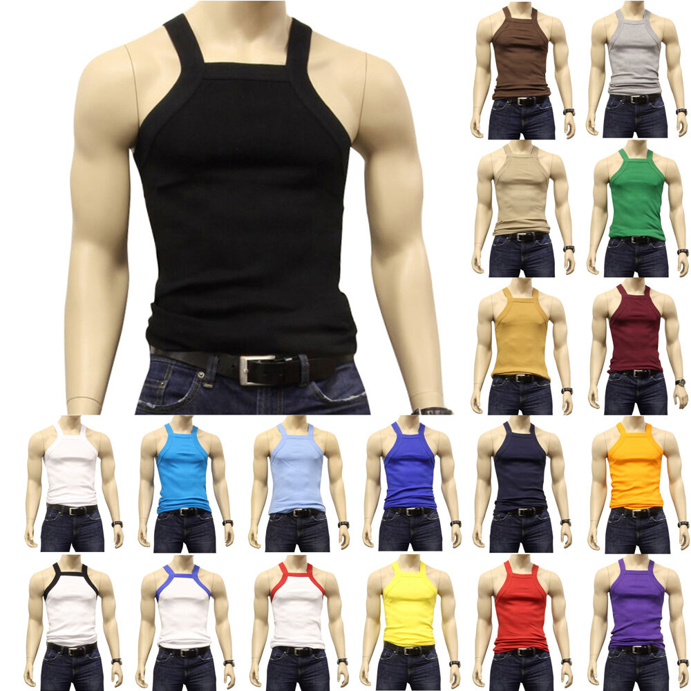 2eadaaddcde973 Details about G UNIT Square Cut Ribbed Tank Top Undershirt Underwear Wife  Beater Mens Cotton