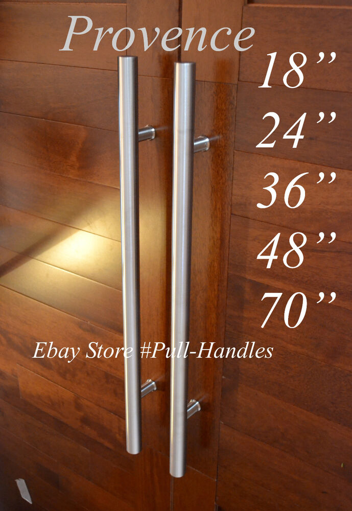 Door Long Pull Pulls Entry T Bar Handle Stainless Steel 18 To 70