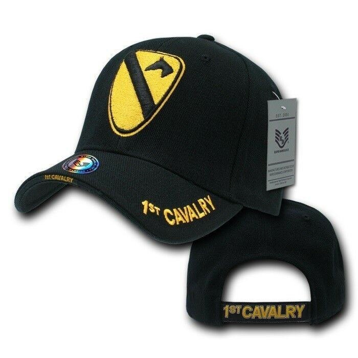 8291215c2ea Details about Black 1st Cavalry Division United States Army Military  Vietnam Cap Hat Caps Hats