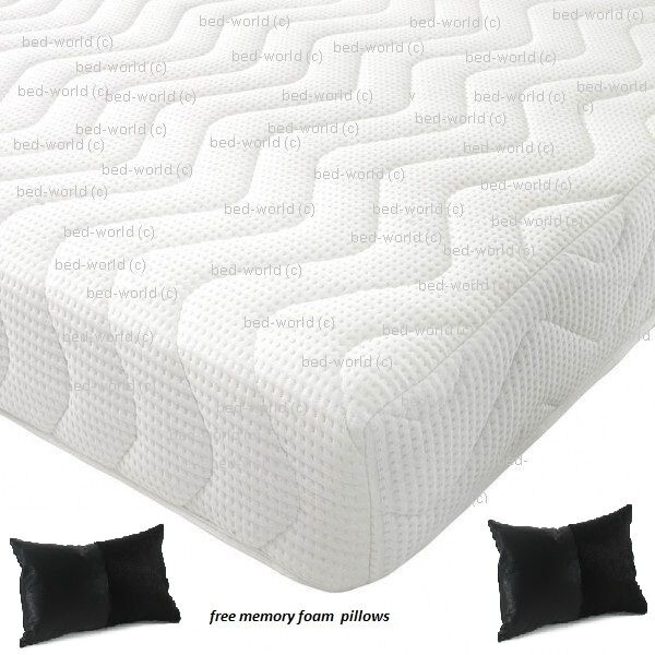 Reflex Memory All Foam Mattress 5 1 Free Pillows Free Next Day Delivery Ebay