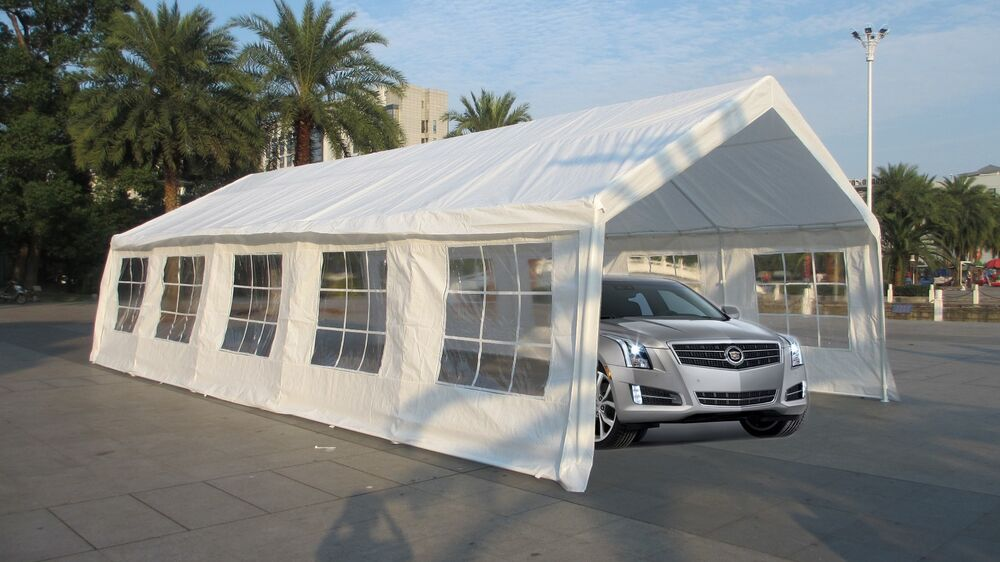 Heavy Duty Carport Canopy : New white heavy duty carport party tent canopy car